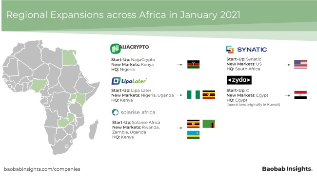 regional expansion market map africa 2021