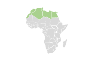 regional map of north african countries